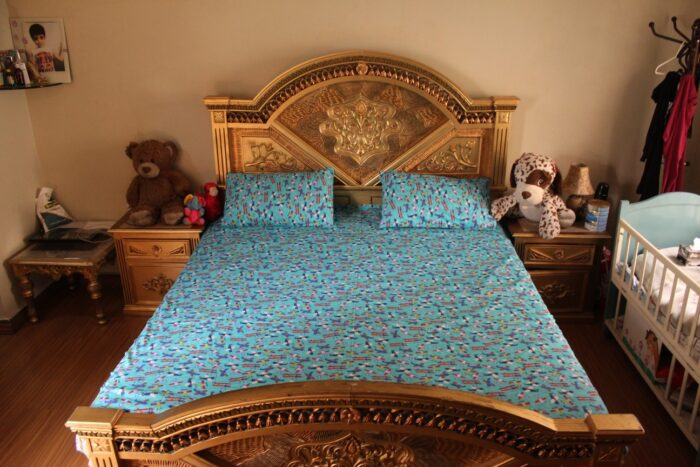 old planes toys kids double bed sheet